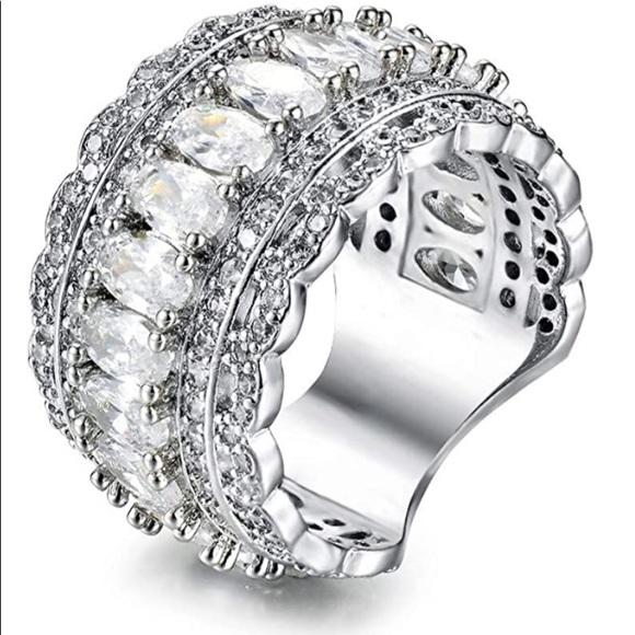 Marquise Cut Cubic Zirconia Filigree Ring